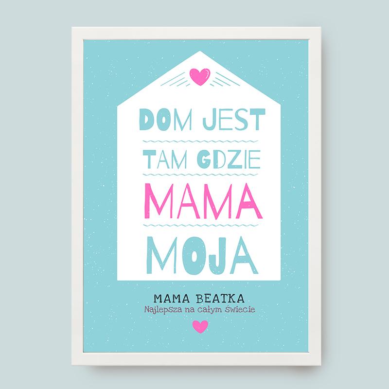 Plakat Dla Mamy Z Napisami Na ścianę Personalizowany