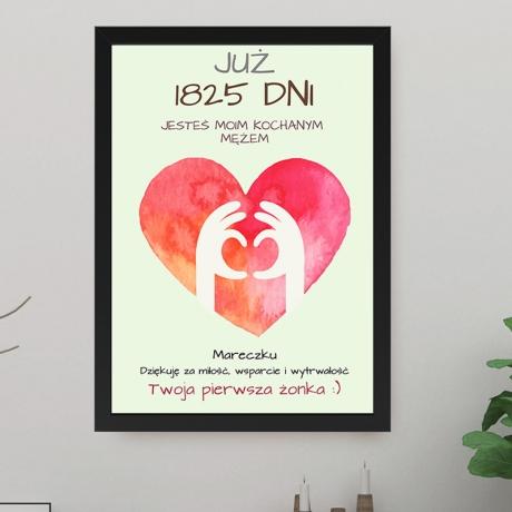 Plakat na rocznicę ślubu