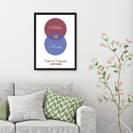Plakat personalizowany na rocznicę ślubu
