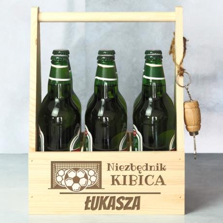 Grawerowane nosidło na piwo dla Kibica
