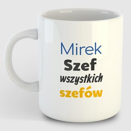Kubek  personalizowany SZEF SZEFÓW