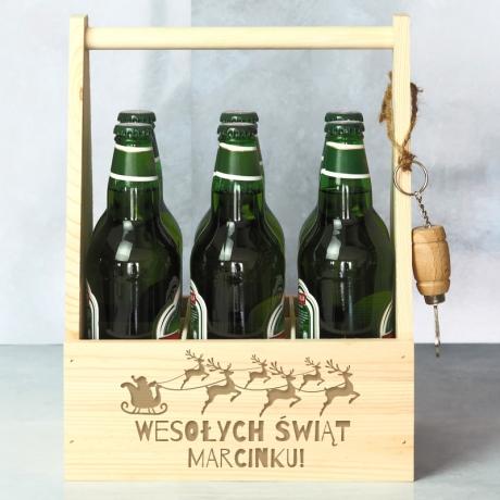 Świąteczne nosidło na piwo z grawerem