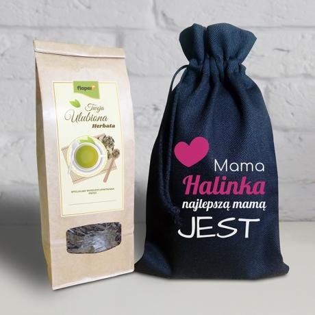 Herbata w personalizowanym woreczku dla mamy
