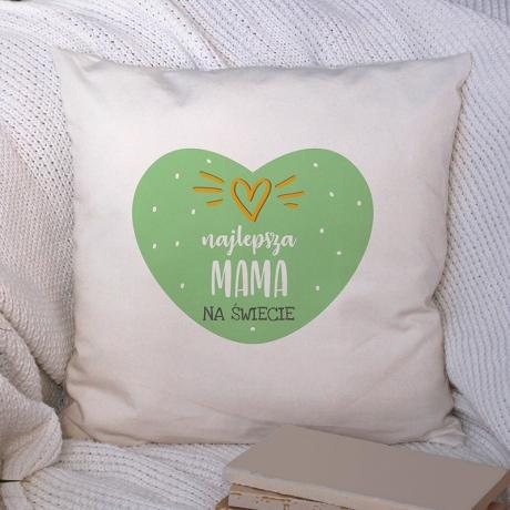 Poduszka SERCE z nadrukiem dla mamy