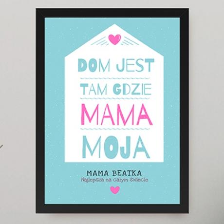 Plakat dla mamy z napisami na ścianę (personalizowany)