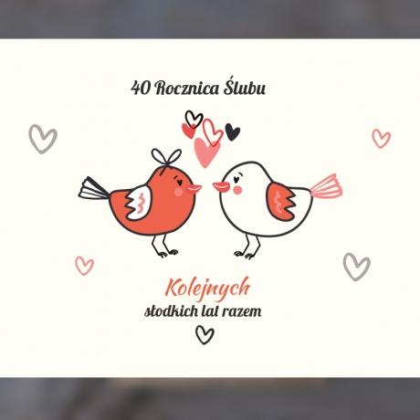 Zestaw miodów - 40 rocznica ślubu