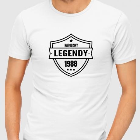 Koszulka męska NARODZINY LEGENDY na 20,30,40,50 urodziny