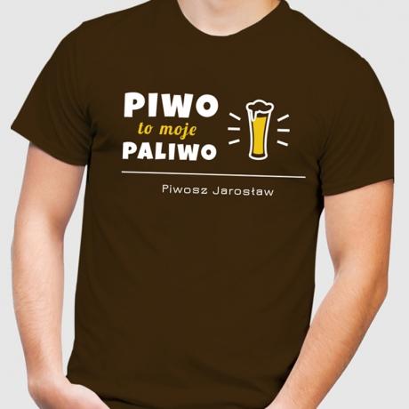 Koszulka męska z nadrukiem PIWO MOJE PALIWO