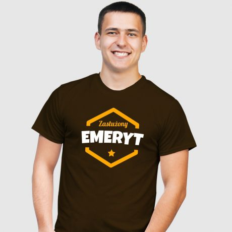 Koszulka męska z nadrukiem DLA EMERYTA