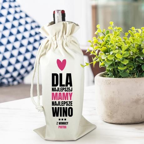Worek personalizowany na alkohol WINO NAJLEPSZEJ MAMY