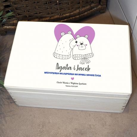 Ręczniki na prezent ślubny - personalizowane