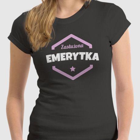 Koszulka damska z nadrukiem DLA EMERYTKI