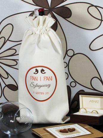 Worek personalizowany na wino PARA MŁODA