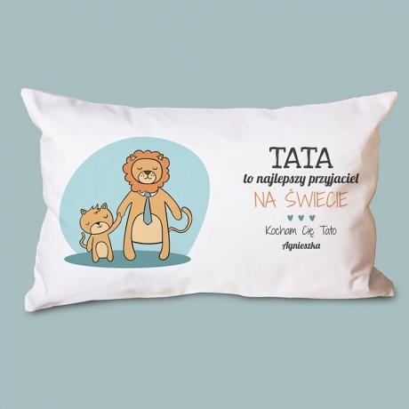 Poduszka dla taty z lwami i napisem (z nadrukiem)
