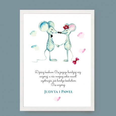 Plakat dla zakochanych - prezent w ramce