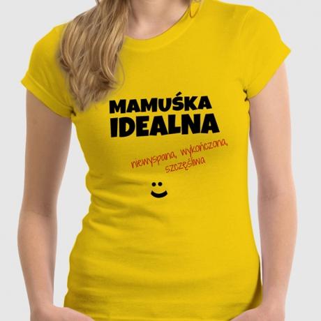 Koszulka damska personalizowana MAMUŚKA IDEALNA