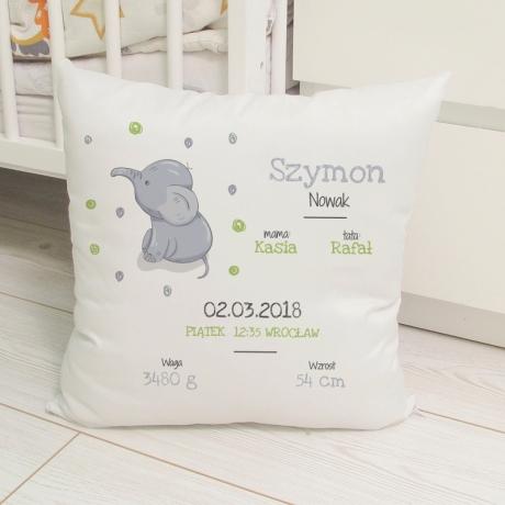Poduszka METRYCZKA dla chłopca (personalizacja) 40 cm x 40 cm