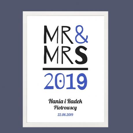 Plakat personalizowany MR & MRS