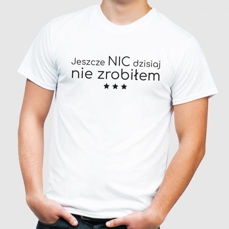 Koszulka z nadrukiem NIC NIE ZROBIŁEM