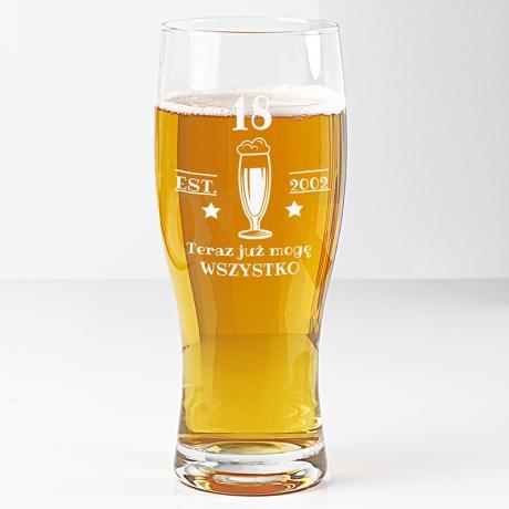 Szklanka do piwa prezent na osiemnastkę