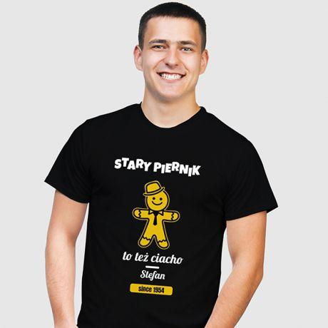 Koszulka męska personalizowana STARY PIERNIK