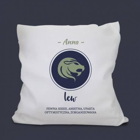 Poduszka z nadrukiem LEW - Znak Zodiaku