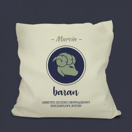 Poduszka z nadrukiem BARAN - Znak Zodiaku