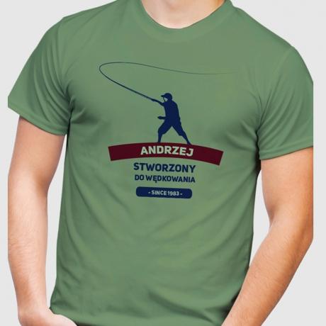 Koszulka dla wędkarza STWORZONY DO WĘDKOWANIA