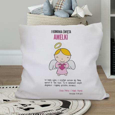 Poduszka na Komunię dziewczynki (personalizowana w 100%)