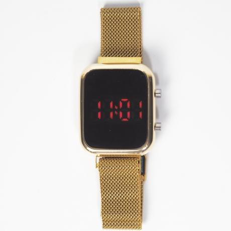 Zegarek damski LED prostokąt