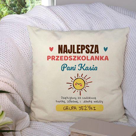 Poduszka z imieniem NAJLEPSZA PRZEDSZKOLANKA