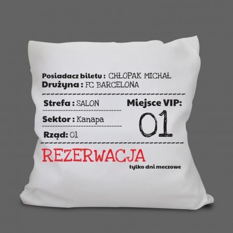 Poduszka na mecz prezent dla kibica