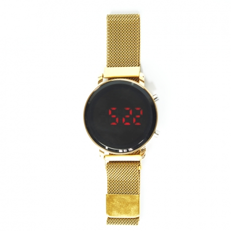 Zegarek damski LED okrągły