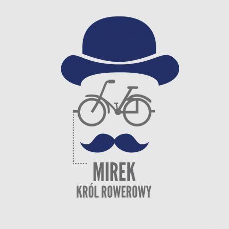 Koszulka dla rowerzysty z nadrukiem KRÓL ROWEROWY