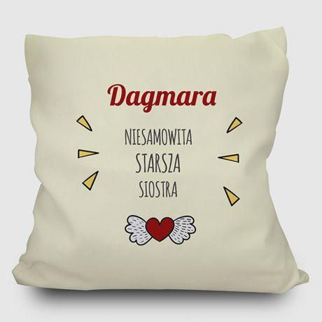 Poduszka personalizowana STARSZA SIOSTRA