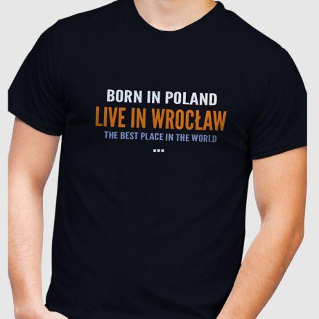 Koszulka męska personalizowana MIASTO POLSKA