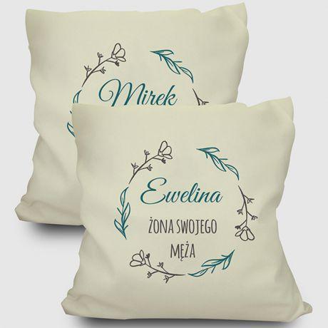 Zestaw poduszek personalizowanych DLA PARY MŁODEJ