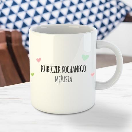 Kubek z misiem do personalizacji | Dwustronny 100% ceramika