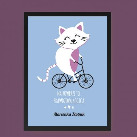 Plakat dla fanki roweru