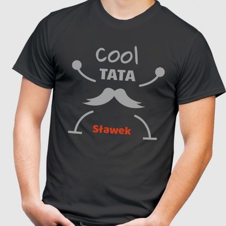 Koszulka męska z nadrukiem Cool Tata