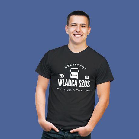 Koszulka męska personalizowana WŁADCA SZOS