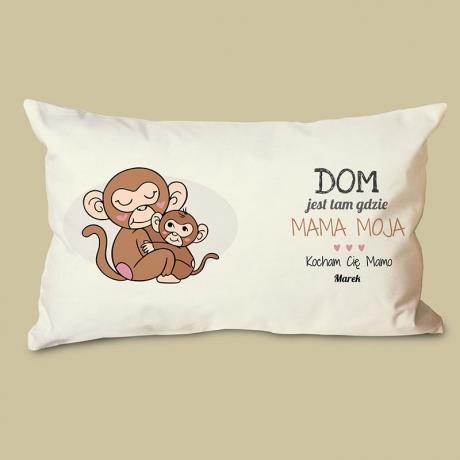 Poduszka dla mamy z małpkami (personalizowana)