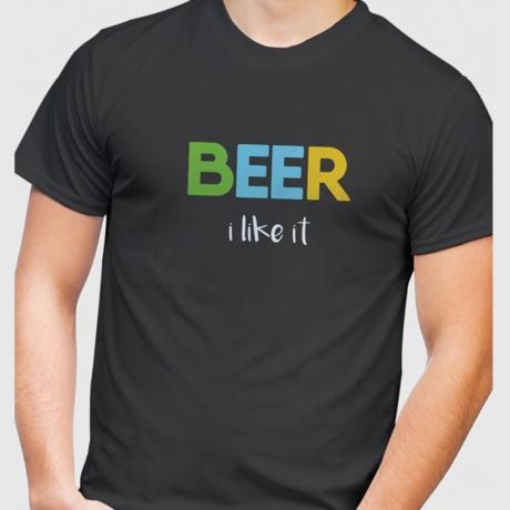 Koszulka piwosza z nadrukiem BEER i like it