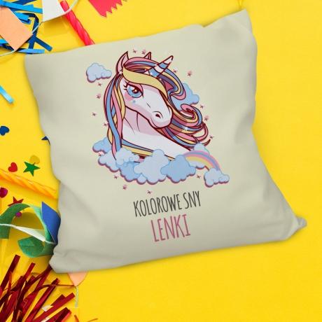 Poduszka z jednorożcem dla dziecka (personalizowana) | Dobra cena!