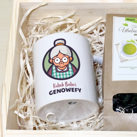 Zestaw herbaciany dla Babci w skrzynce
