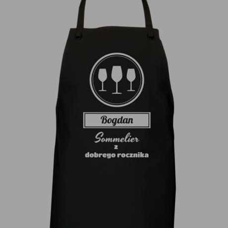 Fartuch personalizowany dla Sommeliera (znawcy wina)
