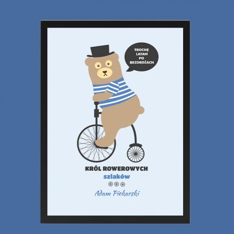 Plakat król rowerowy