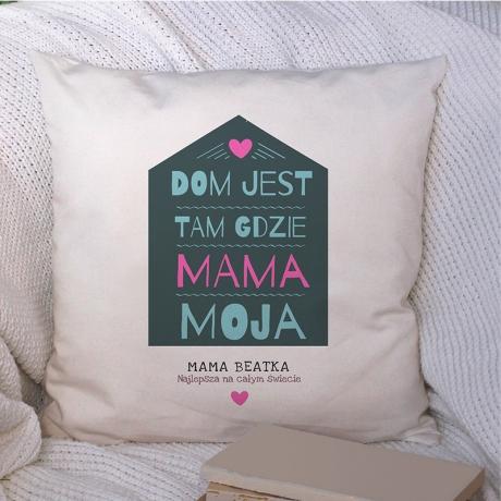 Poduszka dla mamy z domem i imieniem do wpisania