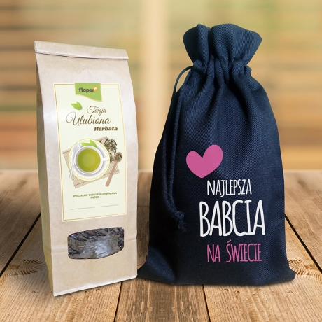 Aromatyczna herbata w woreczku dla babci