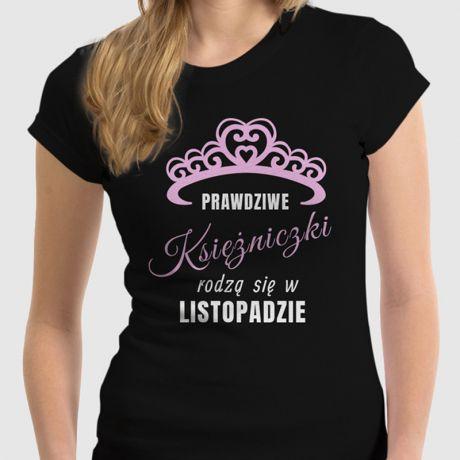 Koszulka damska personalizowana KSIĘŻNICZKI